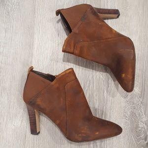 Franco Sarto Karina Brown Heel Boots